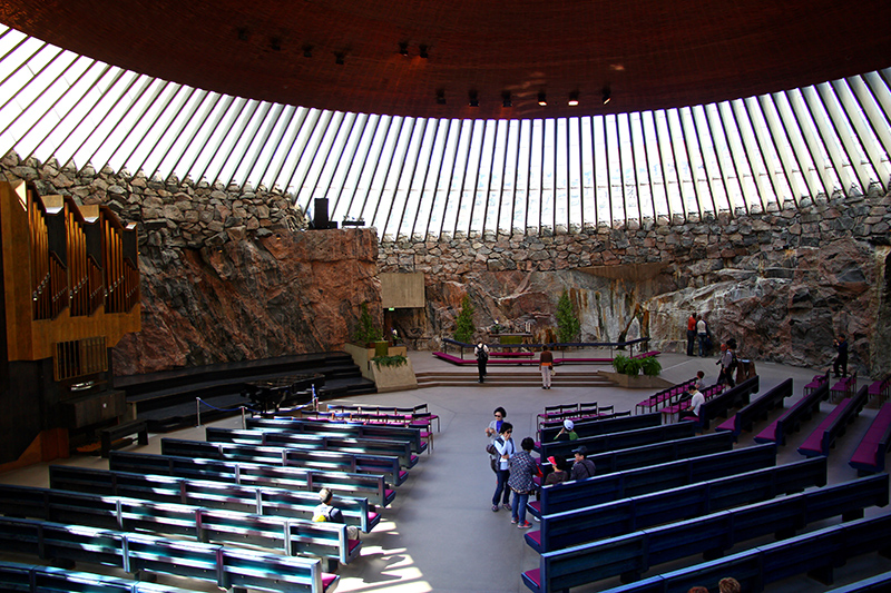 Temppeliaukio Church is not to be missed, the architecture of this building is phenomenal.