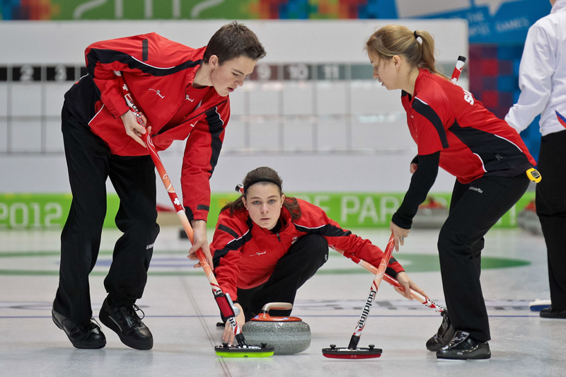 You can learn a lot on a winter holiday without being able to ski, such as curling.