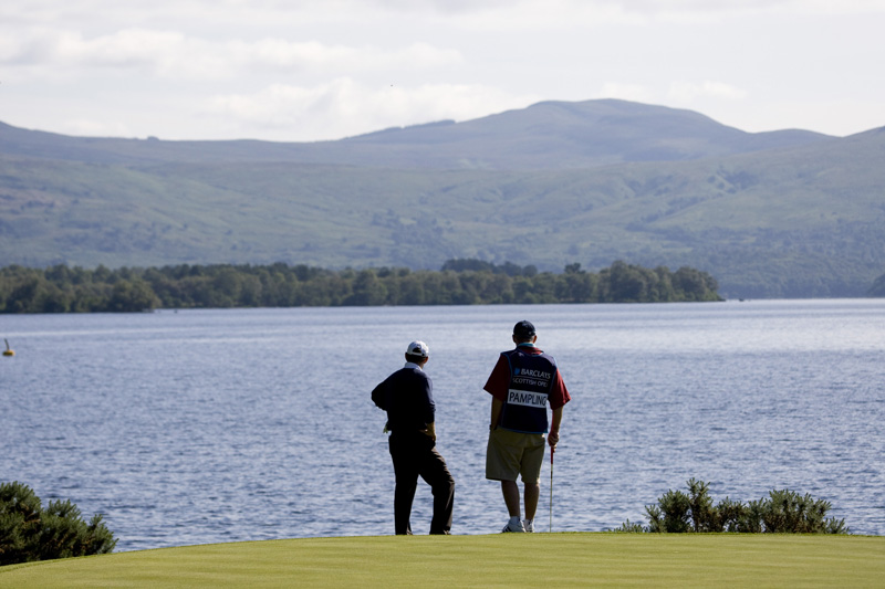 Loch Lomond is one of Scotland's biggest attractions and with scenery like this, it s easy t see why it attracts the golfers.