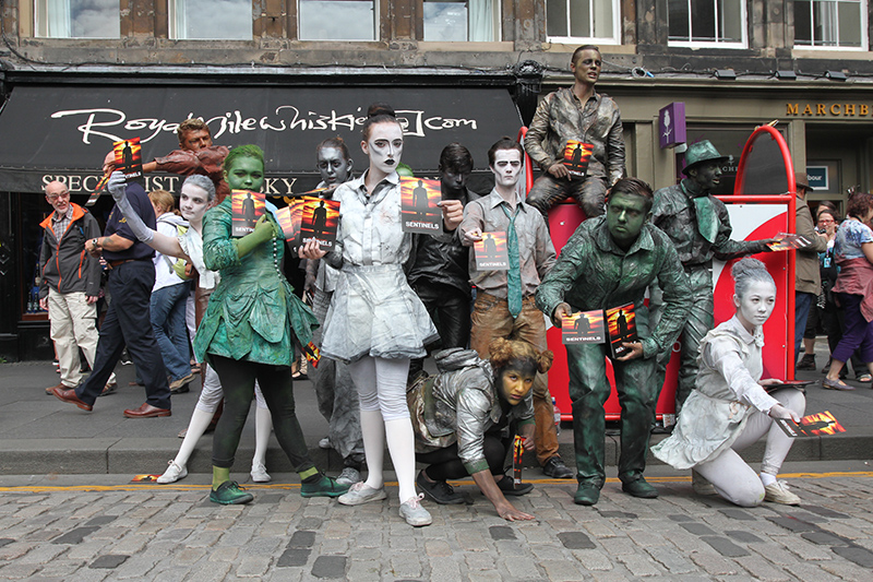 As you walk the streets of Edinburgh, you will come across many actors and performers who are often performing free of charge.