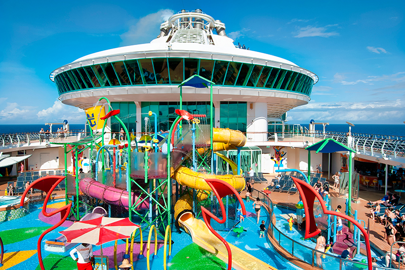 Onboard children's entertainment and sprawling activity areas are sure to keep them occupied for the duration of your cruise (and certainly wear them out!)