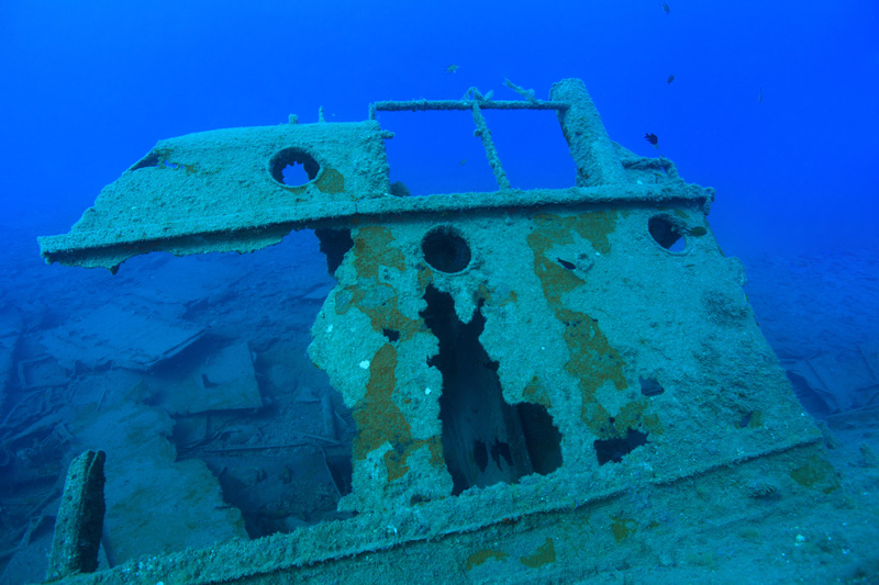 Scuba diving the Arona Wreck will let you fulfill your pirate dreams and explore a real shipwreck.