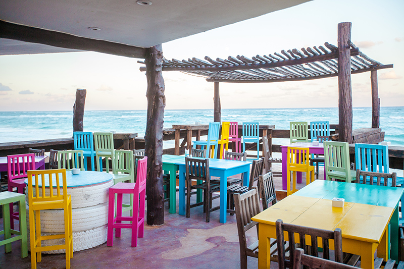 There are some fabulous beachfront restaurants in the Caribbean - get yourself a cocktail, relax and take in these breathtaking views.