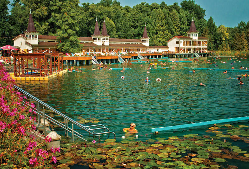 Hungary's thermal lake, Lake Héviz is well-known for its healing properties, so make it your first stop. The healing waters are said to cure various rheumatic conditions, so float for hours and let it soothe away all your aches and pains.