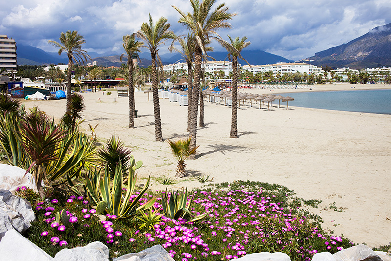 When you have finished wandering around the boutique shops and looking in awe at the expensive yachts in the Puerto Banús marina, take yourself down to the beach for some time to relax and take in the views,