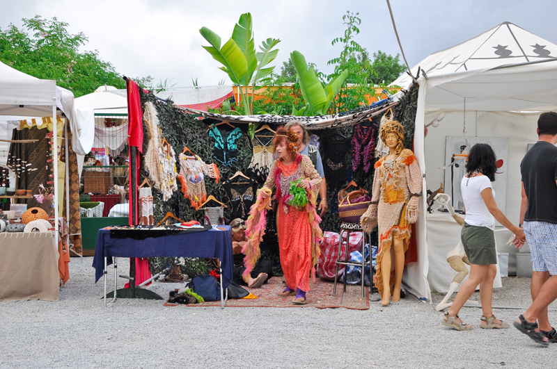 Start out at one of the island's hippy markets, which are frequently held over summer. There's a buzzing atmosphere and plenty of shopping choices too
