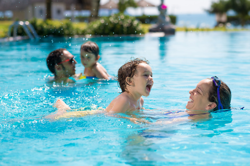 Most resorts have sparkling pools and most families have a lot of fun in them, so why not make a splash while you cool off?
