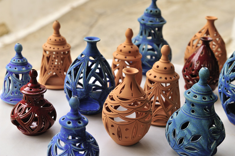 One of Crete's many influences from Minoan times, pottery plays a big part in the lifestyle and decor of the country. The clay is dug close by, keeping the creativeity very local.