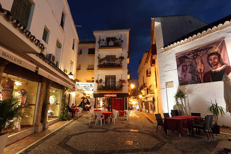 Start your weekend in Marbella on foot, exploring the ancient cobbled streets of the Casco Antiguo, or Old Town, undisturbed by tourists to get a real feel for traditional Spain.