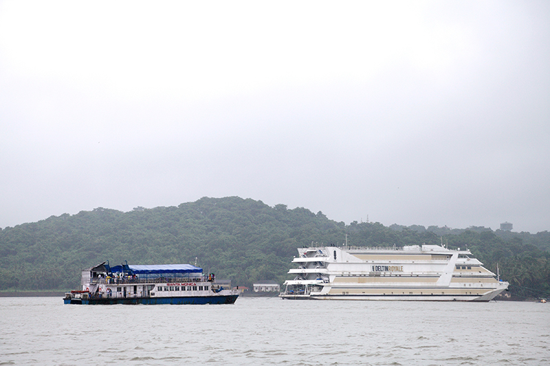 The aptly named Deltin Royale is one of Asia's finest casinos. In compliance with local laws which only permit gambling offshore, this casino is located on a cruise liner which is moored in Goa's Mandovi River, just off the coast of Panaji.
