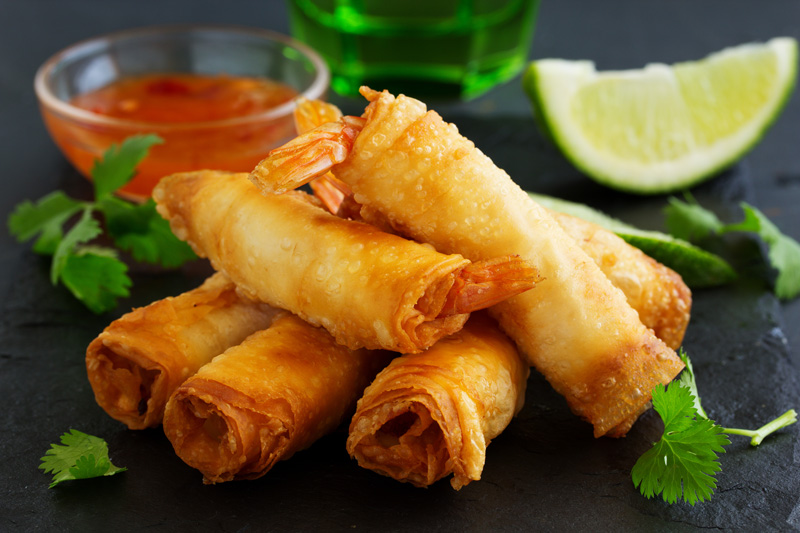 The Spring Roll was created to be a taste of home for Chinese immigrants to the States, while being given a twist to appeal to the American palate.