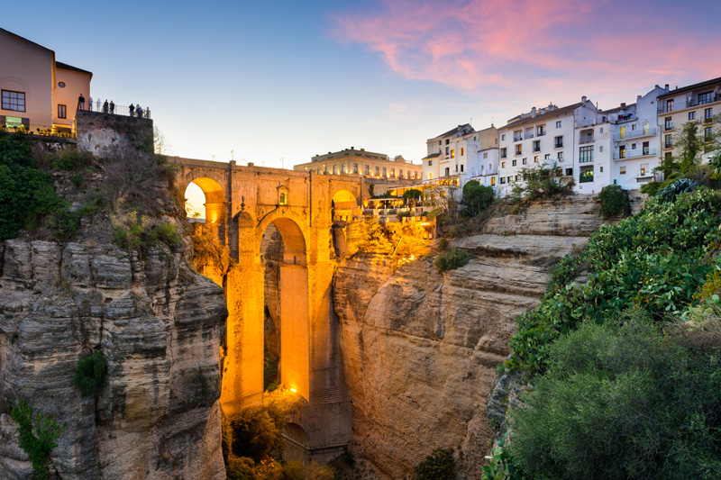 This stunning architectural feat spans the gorge and unites the two sides of Ronda. The Puente Nuevo was built way back in the 18th century and has served the town well.