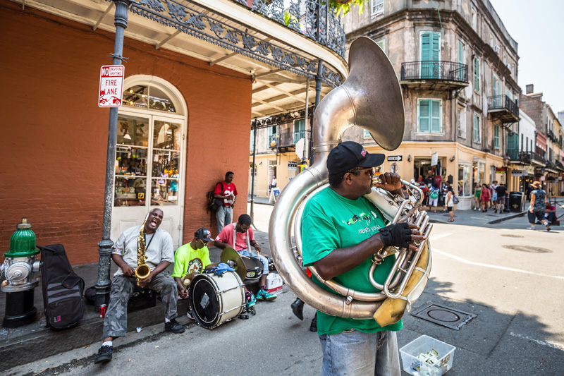 The Big Easy is home to jazz music, so fans of that genre should consider a long-haul holiday here.