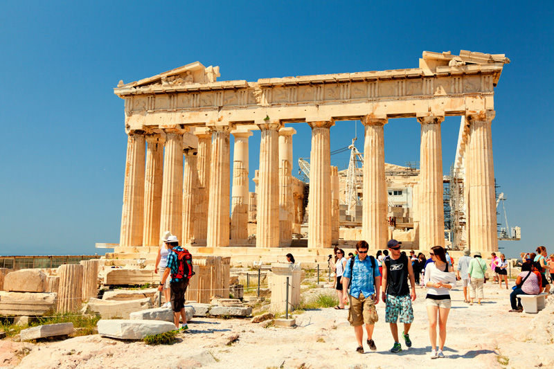 Don't forget, you need your sun protection off the beach, just as much as on it. The sun will still be beating down on you, even when exploring fabulous sites, such as The Parthenon in Greece, pictured here,