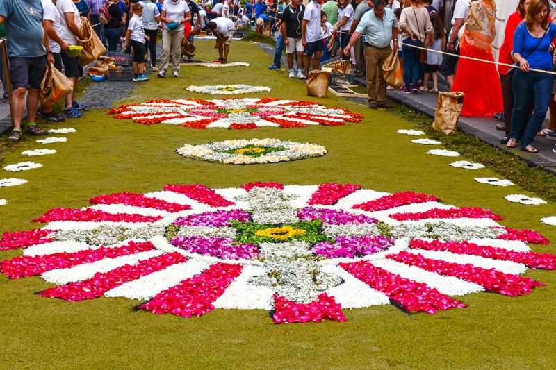 The Corpus Christi Flower Festival is celebrated all over the world, but it is a major festival for Tenerife.