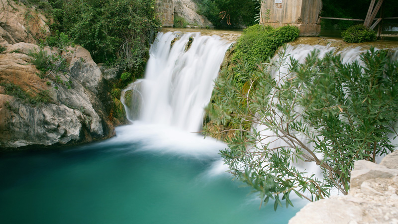 Pretty and spectacular waterfalls are quite a feature on the Costa Blanca.