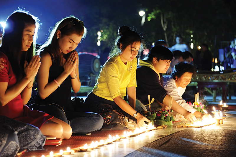 Taking part in the Loi Krathong Ceremony, which is similar to the Festival of Light, was a memorable experience for Carmel and Ian during their holiday in Thailand.