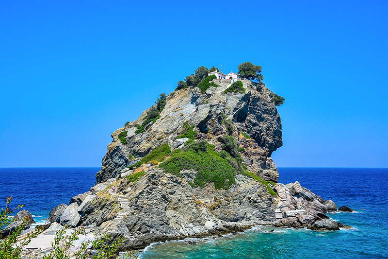 Another famous musical for you - Mamma Mia It was filmed on the beautiful Greek island of Skopelos and is well worth a visit if you are fan of this Abba-inspired film.