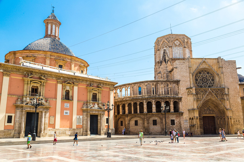 Valencia, St Mary's Square characterises the architecture to be found in this region of Spain.