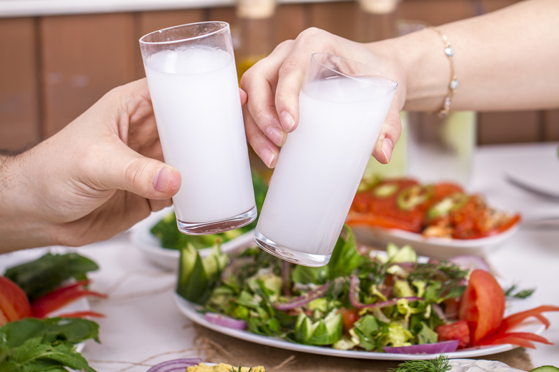 From the grapes also comes one of Crete's most popular drinks, Raki. The strong spirit is sometimes given as a complimentary drink at the end of the meal, though you could try variations of the drink at small local eateries.