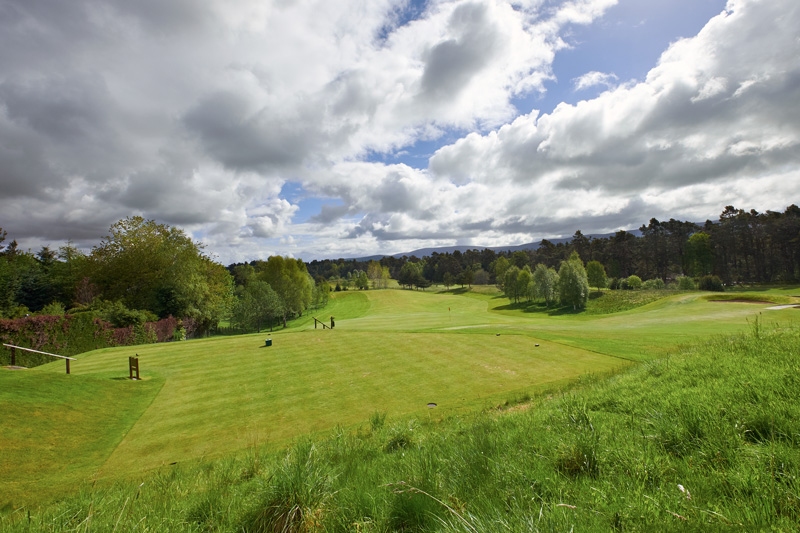 Grantown on Spey golf course, clsoe to an osprey centre.