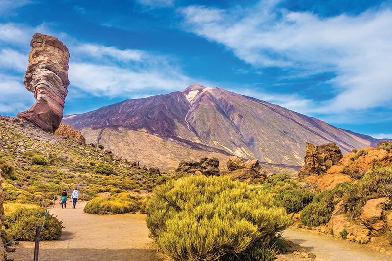 The hill trails around Mount Teide make for great day trips, when you can clamber about the mountain to admire the island from above.
