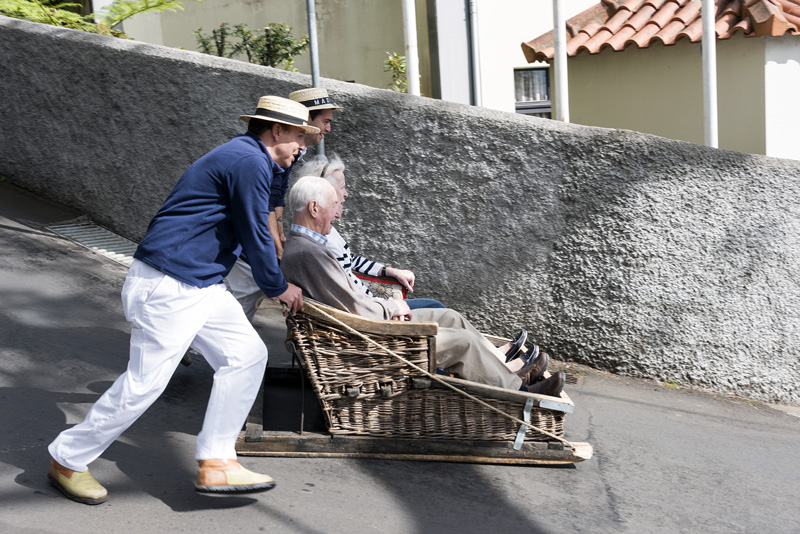 Forget buses or taxis, the way to travel from Monte to Funchal is by sledge! This mode of transport has been used since the 1850s, where merchants would use it to transport goods between the towns.