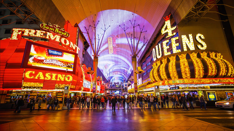Fremont Street is a brilliant area of Las Vegas to visit. It has been redeveloped into an arts and music hub, so there's lots to see and do. There is plenty of shops too if you want to splurge,