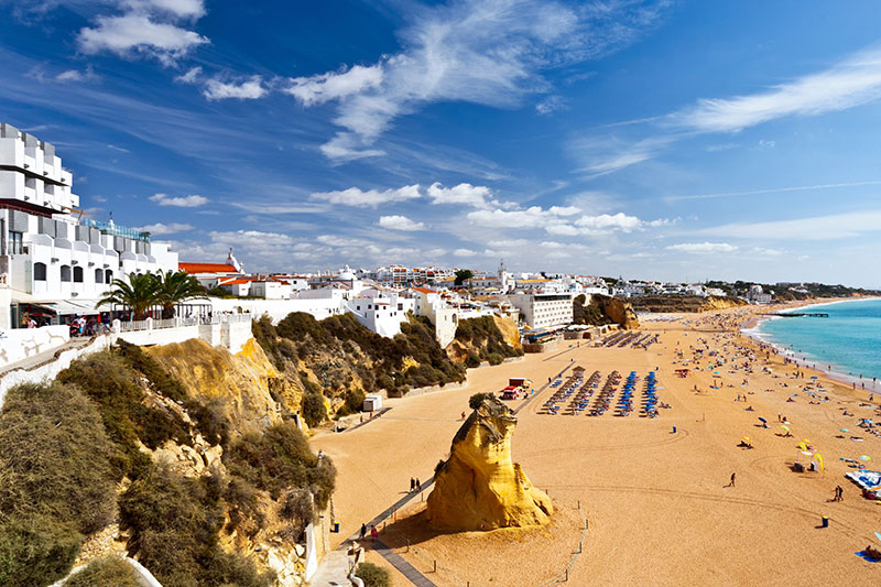 Portugal is well-known for being home to some of the best beaches in the world. Albufeira alone has 20 Blue Flag beaches so visitors will be spoilt for choice when it comes to choosing a stretch of sand to relax on for the day.