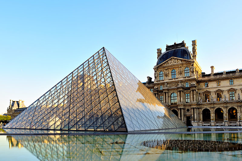The largest art museum in the world, the iconic Louvre and its glass pyramid are an absolute must-visit when you're in the French capital. The museum houses hundreds of thousands of artefacts and pieces of art within its famous walls.