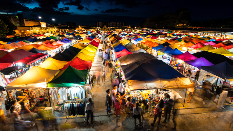 There are so many local food and night markets in Chiang Mai, where you can try lots of different food and by a few treats and trinkets to take home.