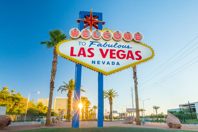 You know you've arrived when you see this sign! Las Vegas was one of 13 Holiday destinations virtually visited in our 'Around The World With RCI Points' challenge - which was completed with some of the 80,000 RCI points left over.