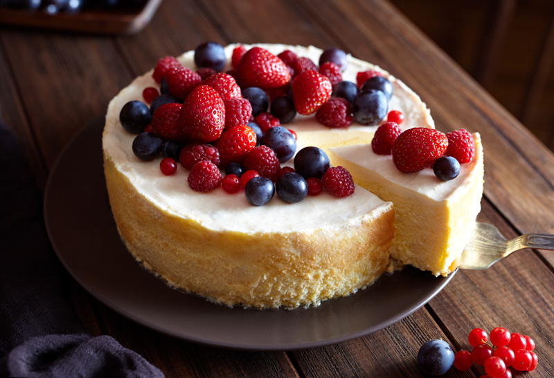 Like the doughnut, it seems cheesecake was the food of Olympians, having first been eaten in ancient Greece.