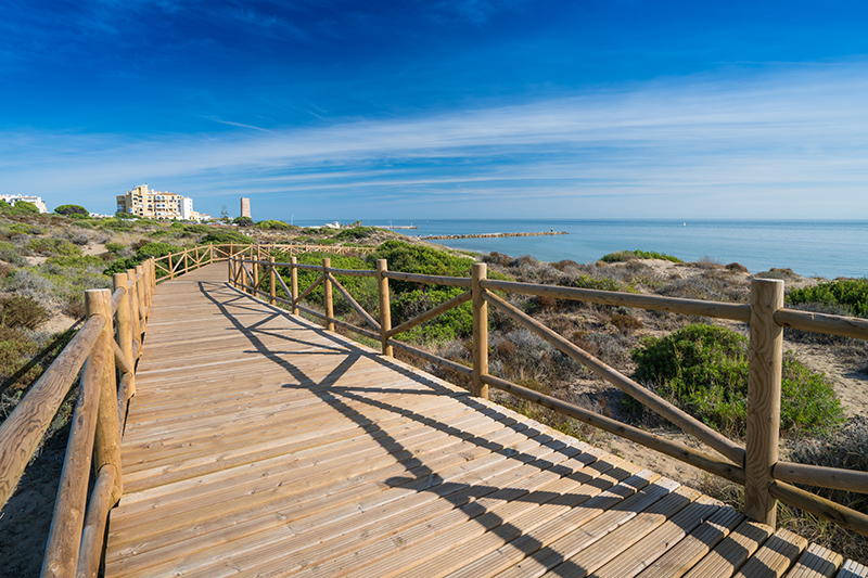 The Paseo Marítima is an endless, car-free boulevard stretching along the Marbella coastline, all the way towards Puerto Banús. It is lined beautifully with palm trees. Perfect for an afternoon stroll.