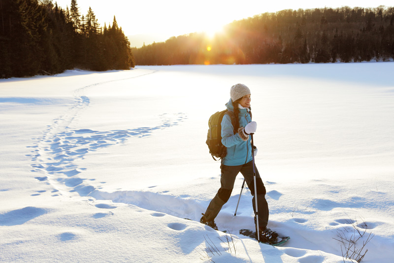 Snow walking, with the help of special snow shoes, is a wonderfuly natural way to soak up your surroundings.