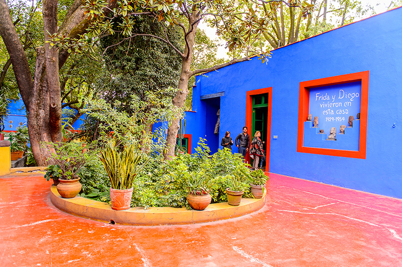 Frida Kahlo's artistic influence can be seen everywhere in Mexico - from street art to painted souvenirs. Visit the incredible galleries to view her work, as well as the Blue House, pictured, Frida's home and now a museum of her work.