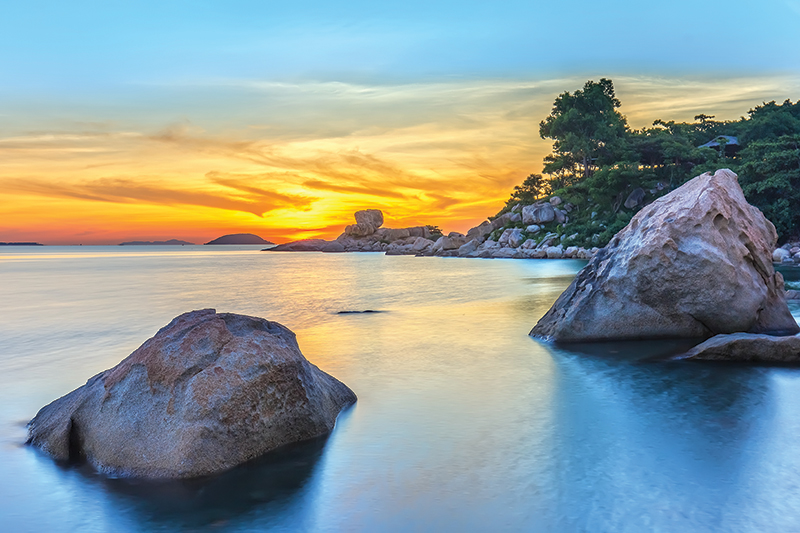 Nha Trang is a coastal resort city in southern Vietnam, known for its beaches, diving sites and offshore islands. Its main beach is a long, curving stretch along Tran Phu Street, backed by a promenade, hotels and seafood restaurants.