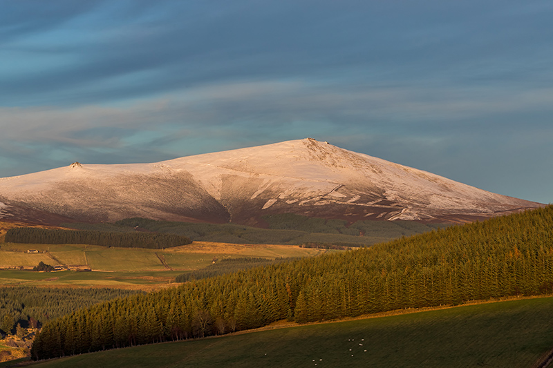 The breathtaking views across the Scottish Highlands from the Speyside region, home to Glenvilet whisky.