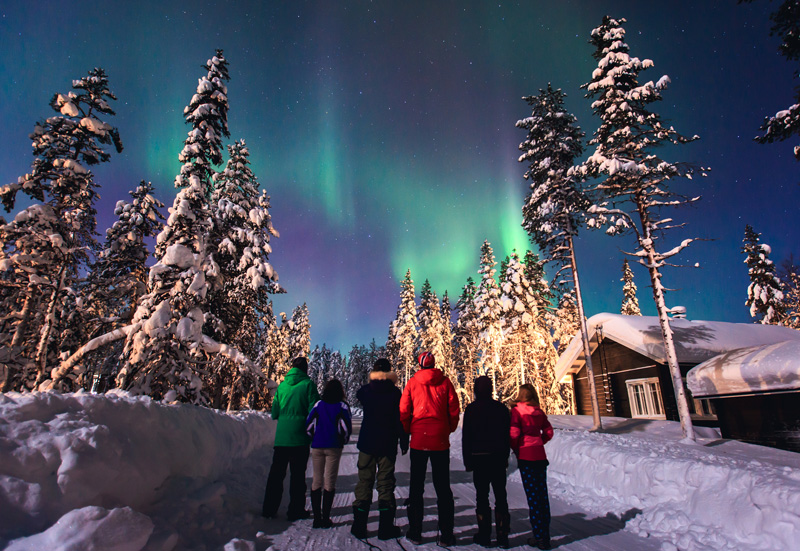 Going to see the Northern Lights is best done with your friends and family so everyone can experience it together. Grab a blanket and a hot drink and wait for the sky to light up.