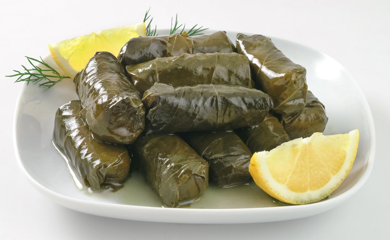 Ever the environmentalists, the Cretans don't like to waste anything, so dolmades - vine leaves stuffed with rice -  make for a delicious starter.