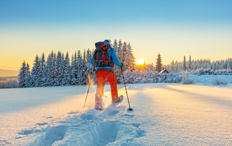Snow walking - or snowshoeing - is a wonderful way to get to be at one with nature in the winer mountains, and gudied tours make it easy for everyone to experience this unique activity.