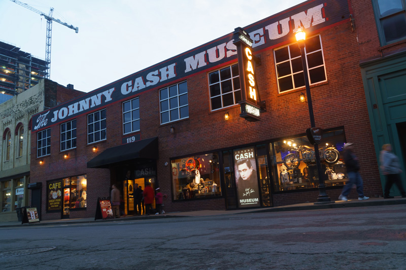 The Johnny Cash museum houses some of the most important artifacts from his life and career.