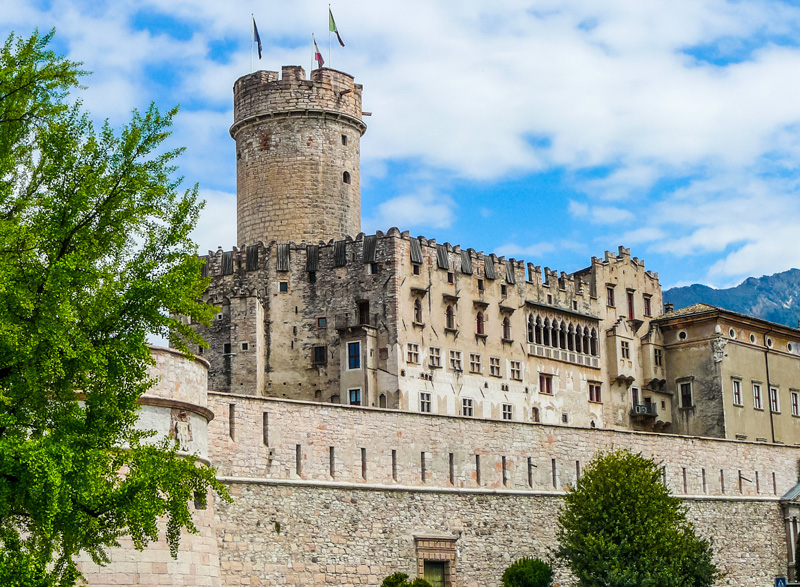 The castle dates back to the 13th century, and was formerly the residence of the ruler of Trento