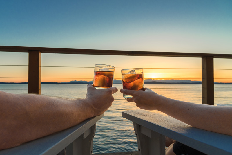 After a day exploring some of the most beautiful places, Pat enjoys returning to the ship to relax and enjoy all the ship has to offer.