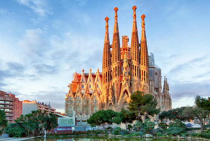 Antonio Gaudí really made a mark on the city, especially with the Sagrada Família