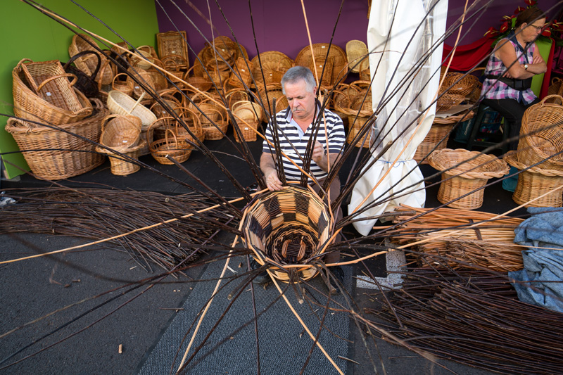 Wicker products are also available to buy in Madeira. There are workshops where you can see the artists at work, making all sorts of items from chairs, to baskets and plant pots.