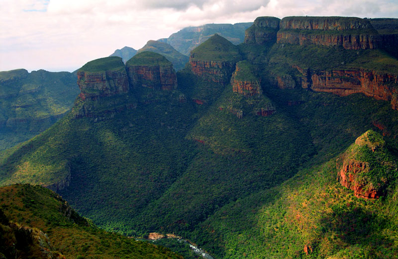 The Three Rondavels, Blyde River Nature Reserve in South Africa makes a beautiful home for the animals, with miles of greenery and dramatic cliffs.