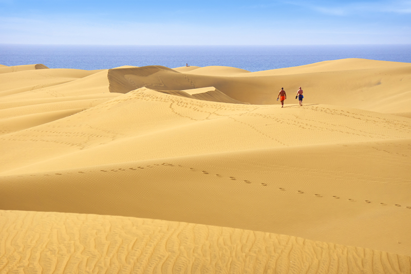 Backed by striking sand dunes, Maspalomas Beach is one of Gran Canaria's best beaches. The long stretch of sand is fantastic for families and watersport enthusiasts - and it even has an area for naturists for those who prefer to leave their swimsuits at home.