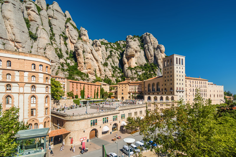 The Monistrol de Montserrat is built right up into the tall mountains of Esparreguera and is really a fascinating place and worth a wander around.