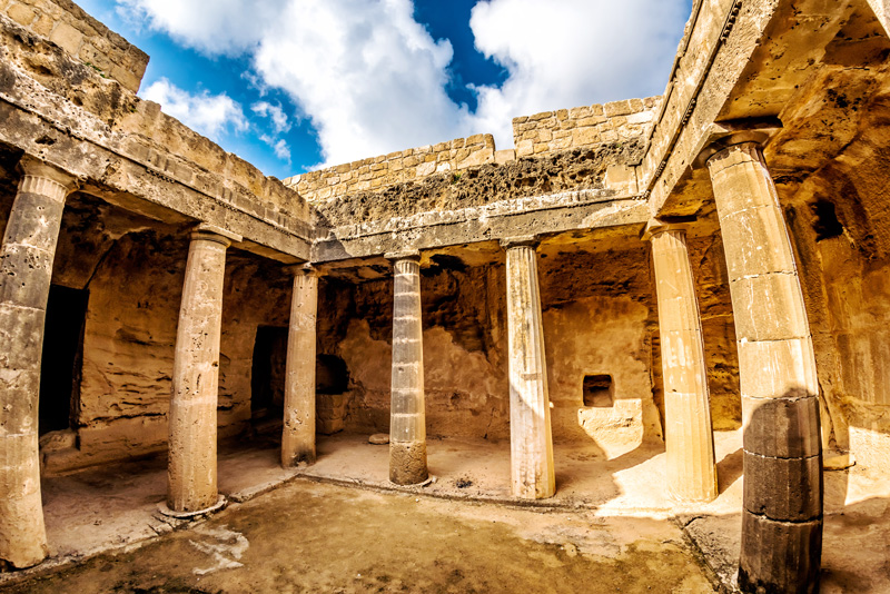 The Tomb of the Kings is a UNESCO World Heritage Site and an insightful alternative to beaches in Paphos